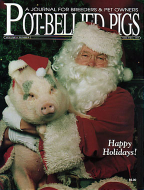 Potbellied Pigs Magazine with Santa